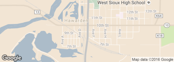 Map of Hawarden location